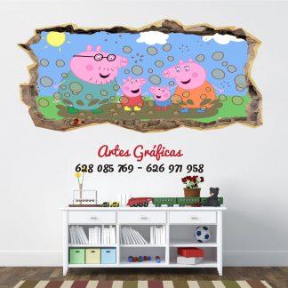 Vinilo infantil mod04 Peppa Pig