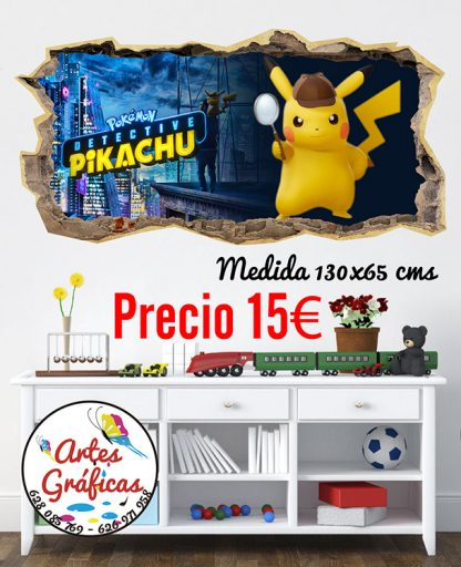 Vinilos infantiles Pikachu