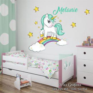 Unicornio estrellas arcoiris